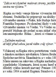 Frantisek Kupka Zivotopis Zivotopis Zadania Seminarky Sk