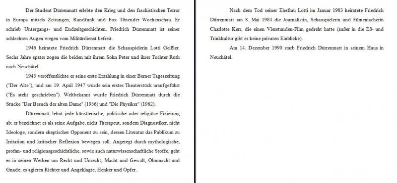 1 - Friedrich Durrenmatt Lebenslauf