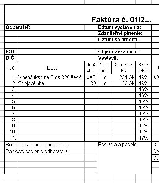 Faktura Vzor Excel поиск по картинкам Red
