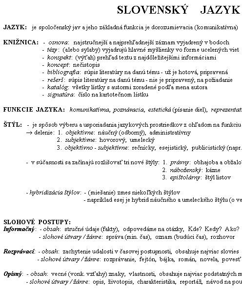 Uvod Do Slovenskeho Jazyka Slohove Postupy System V Slovnej Zasobe