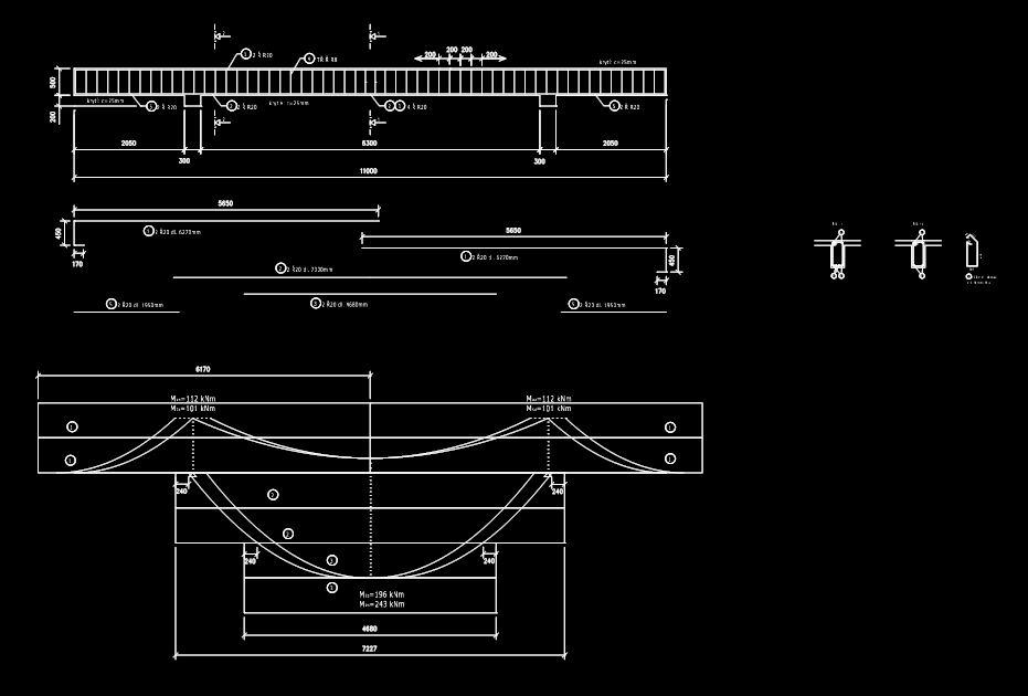 Betonove Konstrukcie Tramovy Strop Vykres Tvaru Technicky