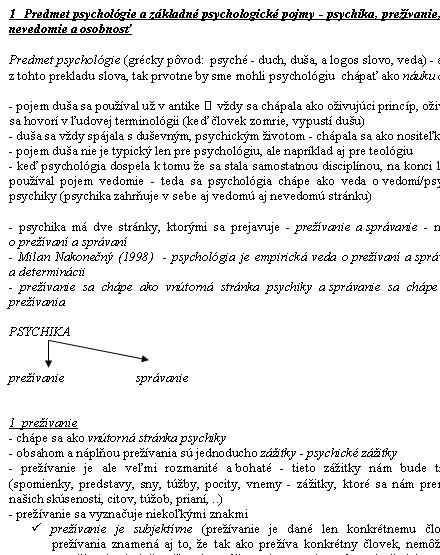 datovania klinický psychológ