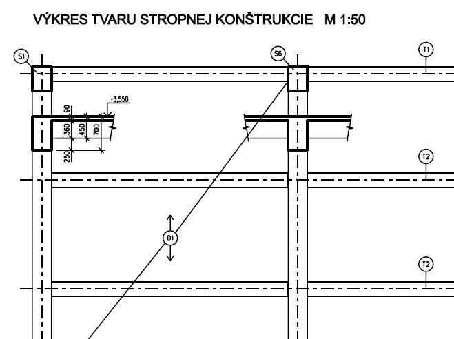 Betonove Konstrukcie Vykres Tvaru Stropnej Konstrukcie Technicky