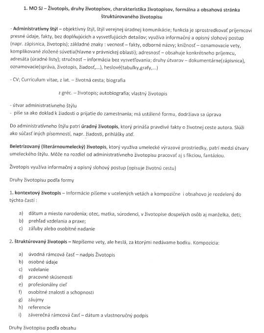 Maturitne Otazky Z Gramatiky Slovensky Jazyk A Literatura